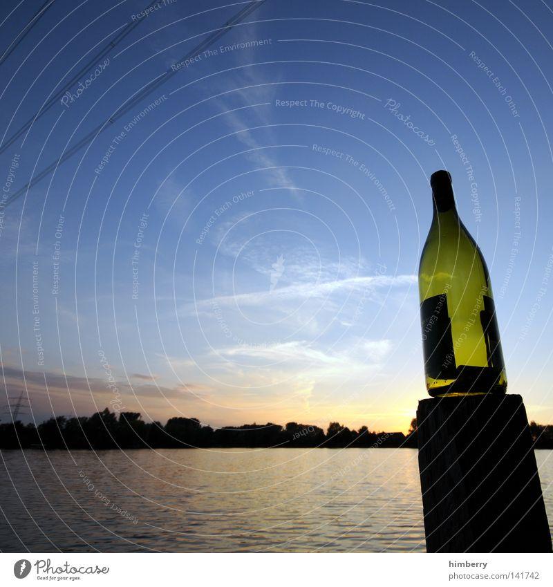 ausgebadet See Ferien & Urlaub & Reisen Erholung Frieden ruhig Freizeit & Hobby Freude Abend Sonnenuntergang Sonnenenergie Himmel Wasser Seeufer Steg Blick
