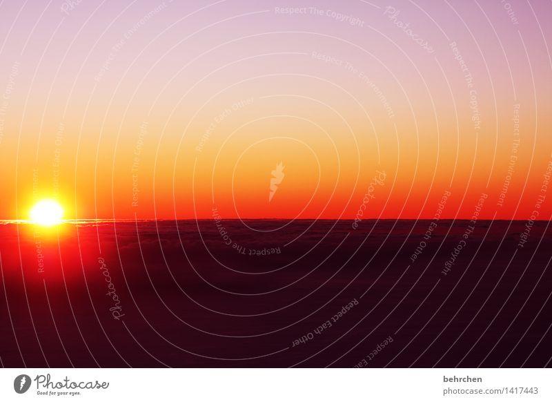 hinterm horizont... Himmel Natur Ferien & Urlaub & Reisen schön Sommer Sonne Wolken Ferne Berge u. Gebirge Frühling außergewöhnlich Freiheit Horizont orange
