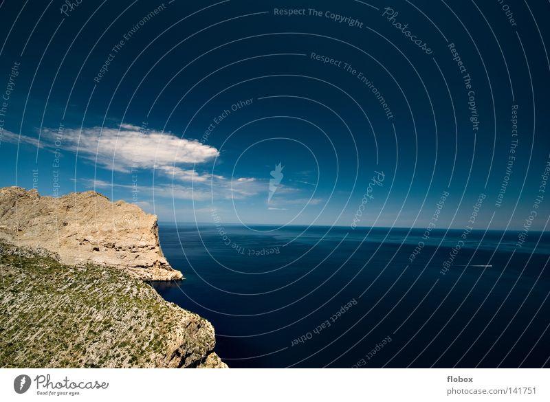 Meer again Himmel Natur blau grün Farbe Wasser Erholung Einsamkeit Landschaft Wolken Ferne Strand Berge u. Gebirge Umwelt Wärme