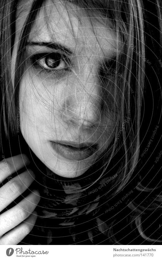 untitled Hand Auge Lippen Zärtlichkeiten Haarsträhne Haare & Frisuren planlos