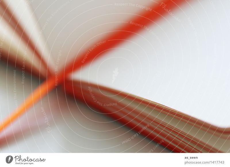 Tagebuch Farbe weiß Schule hell orange Design Freizeit & Hobby modern Textfreiraum ästhetisch leer Kreativität Beginn Buch Idee lesen