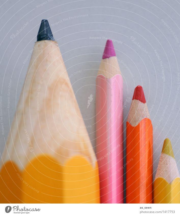 Colour your life Kind Farbe Lifestyle Schule hell rosa orange Design Freizeit & Hobby Kindheit ästhetisch Kreativität Spitze malen Bildung Erwachsenenbildung