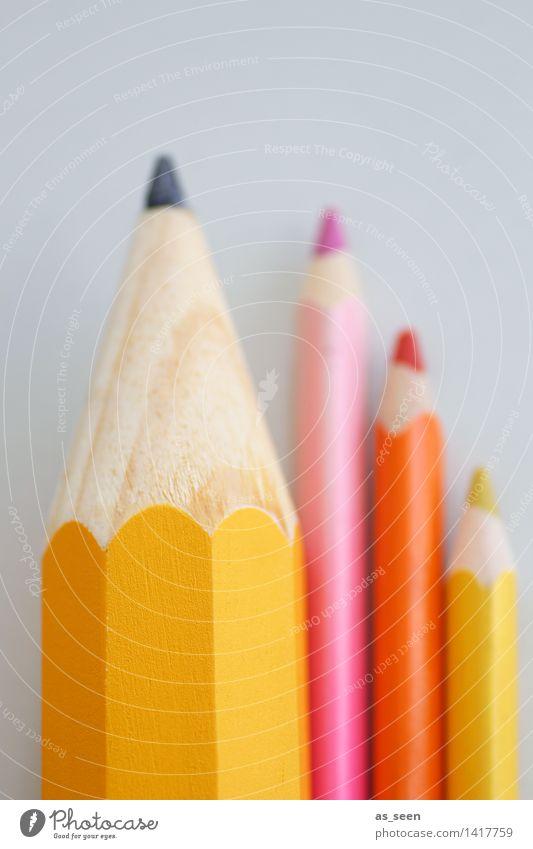 Kreative Ordnung Farbe ruhig gelb Stil Lifestyle Kunst Schule hell rosa Design orange Büro Freizeit & Hobby Dekoration & Verzierung Kreativität