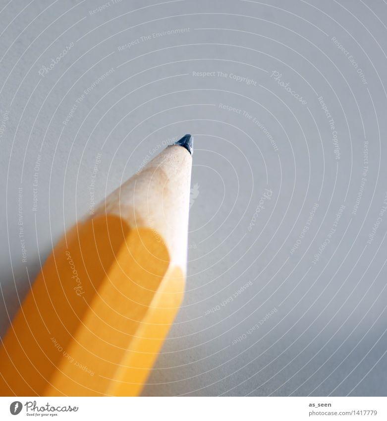 Bleistift Kind gelb Leben Holz Schule Design Büro Kreativität groß lernen Spitze Papier Bildung schreiben zeichnen Mut