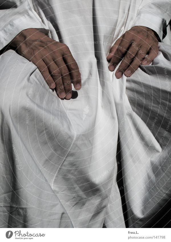 Kaftan Mensch Mann Hand Sommer kalt Wärme Freizeit & Hobby Bekleidung Stoff Kleid Physik heiß Falte Tracht kühlen luftig