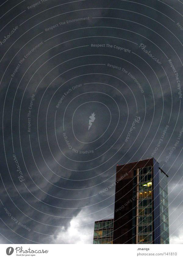 Neulich, als der Hagel kam Himmel Wolken Wetter Meteorologie Natur Zyklus Regen Sturm Herbst Macht Gewalt dramatisch Formation Unwetter Häusliches Leben Haus