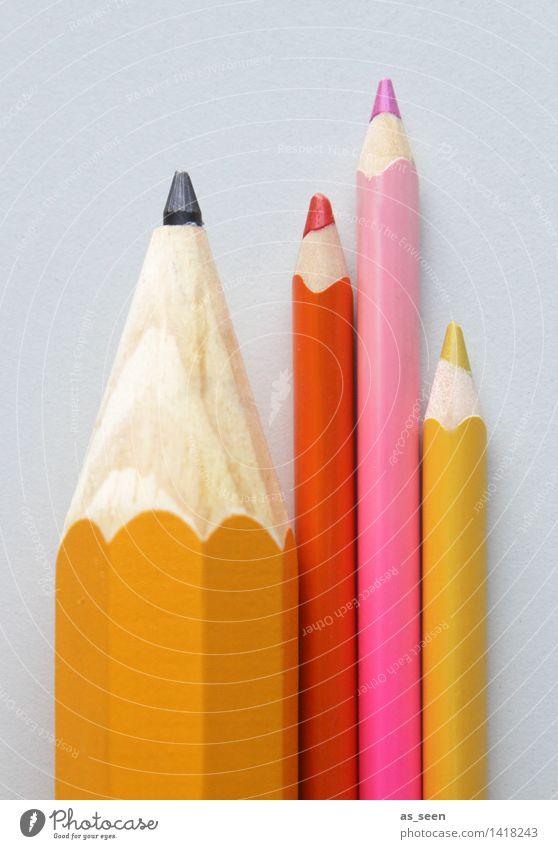 Ordnung muss sein Kind Farbe rot gelb Kunst Schule hell rosa Design Büro Schriftzeichen Kreativität lernen Studium malen Bildung