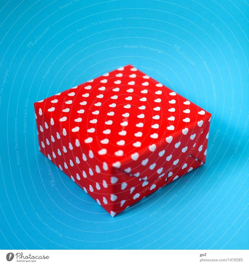 Vorfreude kaufen Freude Valentinstag Muttertag Weihnachten & Advent Geburtstag Geschenk Geschenkpapier Verpackung Verpackungsmaterial Herz ästhetisch blau rot