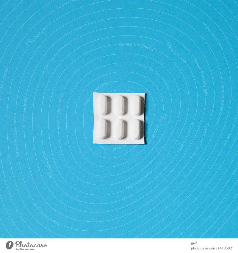 Pillen blau weiß Gesundheit Gesundheitswesen einfach Krankheit Medikament Rauschmittel Verpackung Alternativmedizin Sucht Krankenpflege Tablette Seniorenpflege