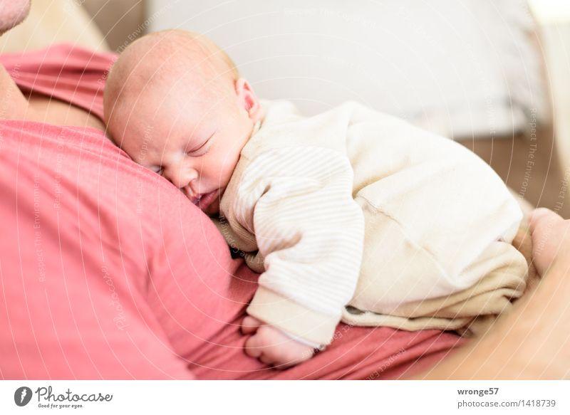 Lieblingsschlummerplatz Mensch Mann weiß rot Erwachsene Liebe feminin Familie & Verwandtschaft klein braun liegen maskulin Zufriedenheit Raum Baby