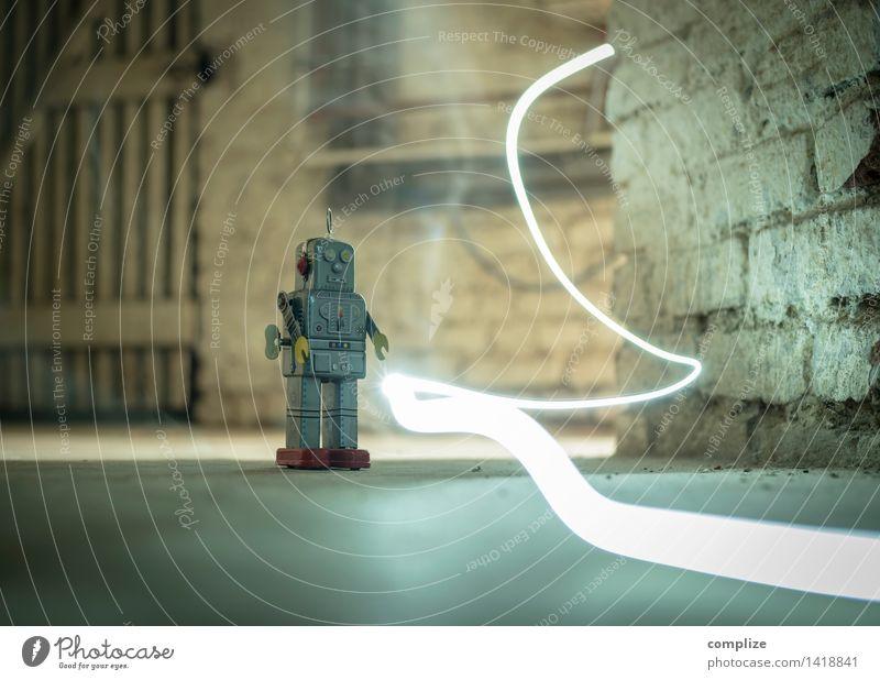 Ich bin der Roboter sprechen Spielen Zeit Linie Arbeit & Erwerbstätigkeit Freizeit & Hobby Technik & Technologie Zukunft retro Beruf Spielzeug Wissenschaften