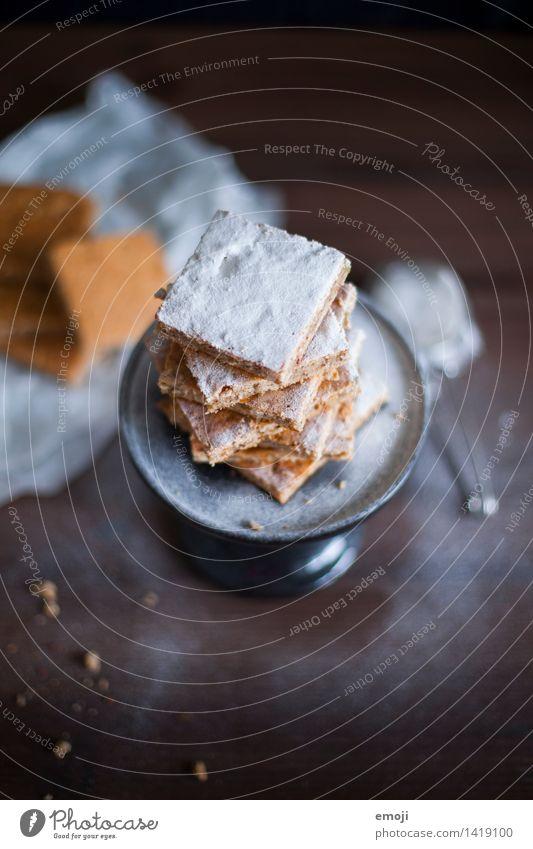 gepudert Ernährung süß lecker Süßwaren Dessert Keks Plätzchen Weihnachtsgebäck Puderzucker