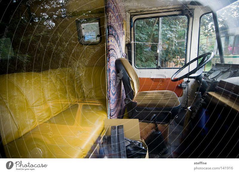 Urlaub [Weimar 2008] Wohnmobil Wohnwagen Camping Reflexion & Spiegelung wohnlich Sofa Ferien & Urlaub & Reisen Freizeit & Hobby Häusliches Leben