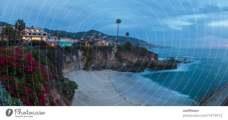 Stadt Lichter anzeigen Laguna Beach in der Nacht Natur Ferien & Urlaub & Reisen schön Meer Strand Architektur Küste Gebäude elegant Erfolg Insel Bucht Reichtum
