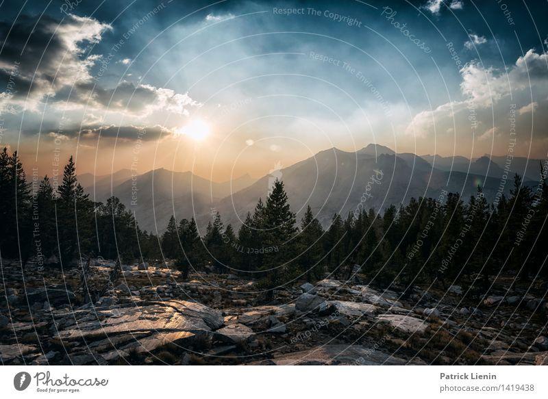 Sierra Sunset Himmel Natur Ferien & Urlaub & Reisen Pflanze Baum Erholung Landschaft Wolken Wald Berge u. Gebirge Umwelt Tourismus Zufriedenheit Wetter Erde