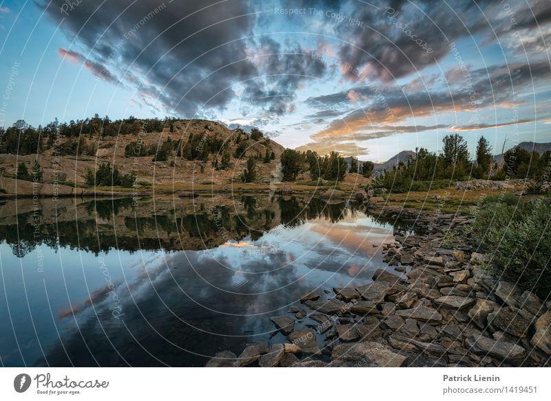 Island Pass Lake Himmel Natur Ferien & Urlaub & Reisen Sommer Wasser Baum Erholung Landschaft Wolken ruhig Ferne Berge u. Gebirge Umwelt Leben Küste Stimmung