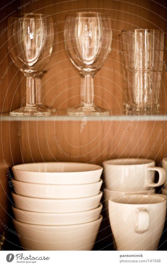 offen Glas Kaffee Küche Gastronomie Tee Möbel Tasse