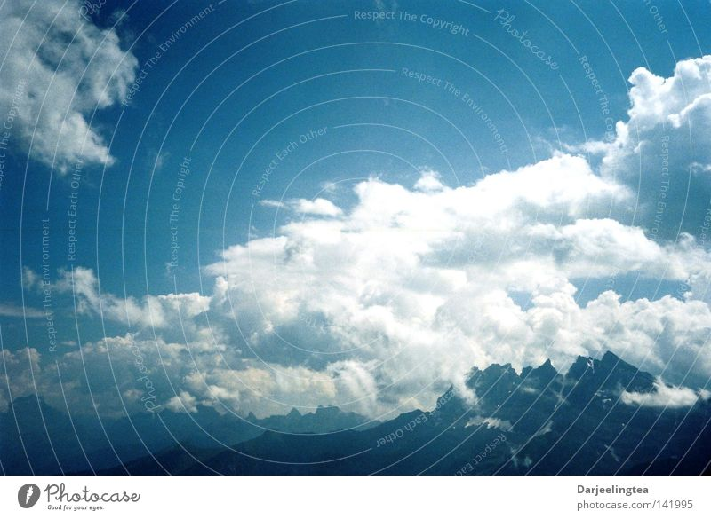 Wollkenwallis Himmel blau Wolken Berge u. Gebirge Freiheit Schweiz Alpen Alpen Kanton Wallis