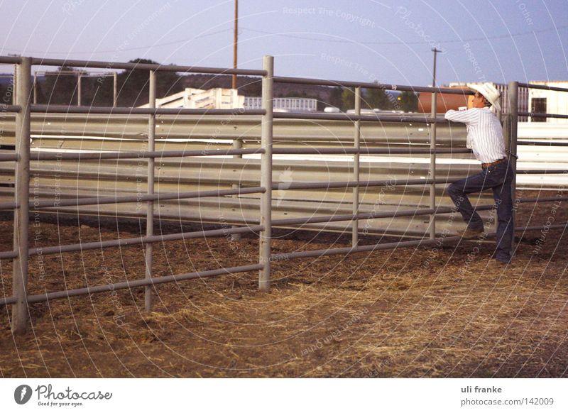 enjoy the silence Einsamkeit ruhig Pferd USA Länder Cowboy Ranch Rodeo Cowboyhut