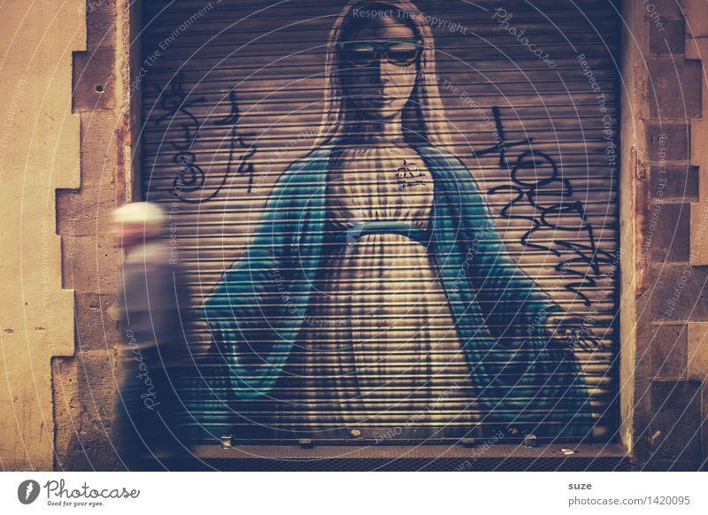 Deine Mudda Mensch Stadt Erwachsene Graffiti Bewegung lustig Religion & Glaube Lifestyle Kunst außergewöhnlich Zufriedenheit Dekoration & Verzierung Armut