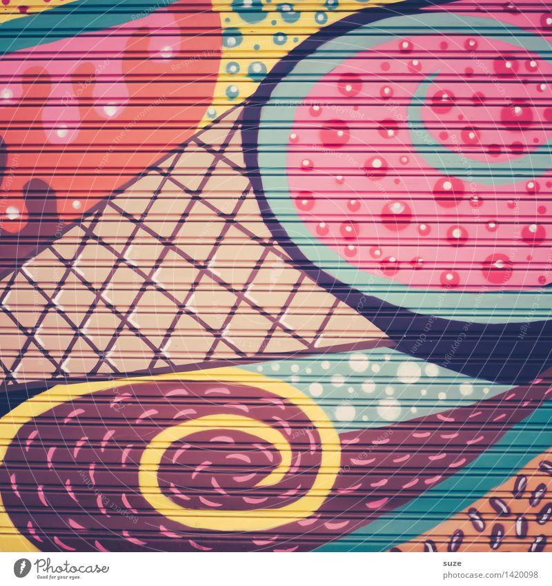 Von allem viel Stil Design Dekoration & Verzierung Kunst Zeichen Graffiti Linie Streifen streichen Coolness Fröhlichkeit trendy positiv verrückt wild