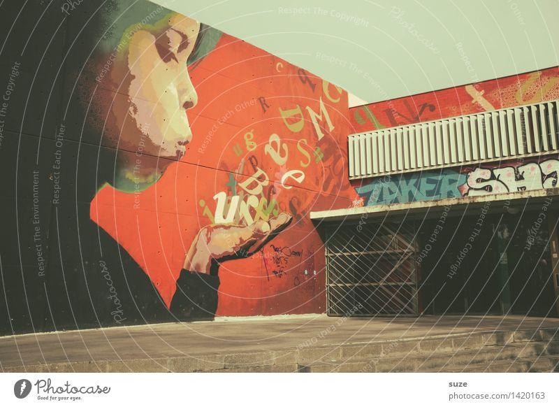 Ach, Pustekuchen! Lifestyle Stil Design Kunst Kultur Jugendkultur Stadt Stadtrand Spielplatz Gebäude Treppe Fassade Graffiti Kommunizieren Gefühle Lebensfreude