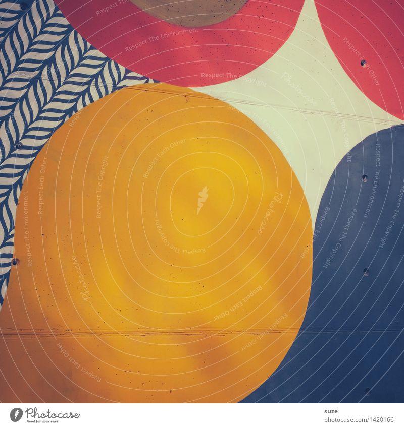 Formell blau Farbe rot Hintergrundbild Stil Lifestyle Kunst Linie Design Freizeit & Hobby Dekoration & Verzierung Ordnung modern ästhetisch Kreativität