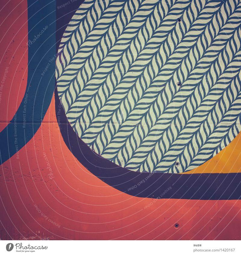 Musterbeispiel Lifestyle Stil Design Freizeit & Hobby Dekoration & Verzierung Kunst Kultur Zeichen Linie ästhetisch Coolness einfach einzigartig modern blau rot