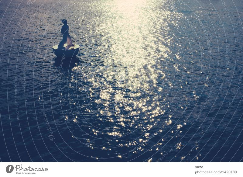 Märchen   Hans im Glück Ferien & Urlaub & Reisen Stadt blau Wasser Meer dunkel Umwelt Glück Kunst außergewöhnlich träumen glänzend wild Kultur Hoffnung Unendlichkeit