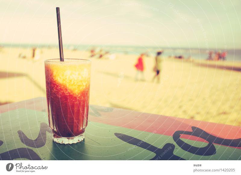 Man muss das Ändern auch leben Getränk trinken Erfrischungsgetränk Limonade Alkohol Longdrink Cocktail Glas Lifestyle Freude Zufriedenheit Erholung