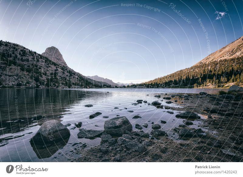 Rae Lake Sinnesorgane Ferne Freiheit Umwelt Natur Landschaft Luft Wasser Himmel Wolken Sonne Sonnenaufgang Sonnenuntergang Sommer Klima Wetter Schönes Wetter