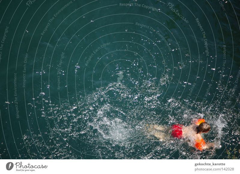 badetag Kind Wasser rot Junge orange Schwimmen & Baden Fluss Schwimmhilfe Wassersport