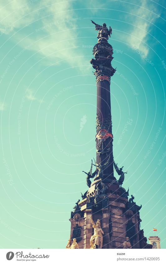 Da ist Indien! Himmel Ferien & Urlaub & Reisen Stadt blau Architektur Kunst Dekoration & Verzierung Aussicht hoch Europa Neugier historisch Vergangenheit Bauwerk Spanien entdecken