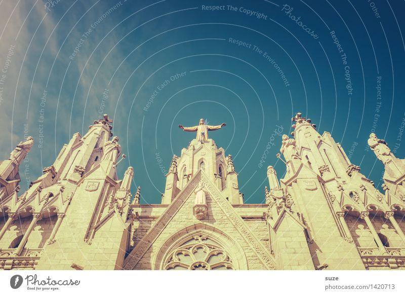 Gib alles! Himmel Himmel (Jenseits) Religion & Glaube Architektur Kirche Europa Kultur Platz historisch Hoffnung Bauwerk Sehenswürdigkeit Spanien Wahrzeichen