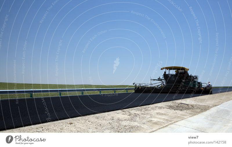 Straßenbau Baustelle Gerät Decke Produktion Bauarbeiter Arbeiter Maschine Leitplanke Feld Physik Autobahn Wege & Pfade Teer Beton verarbeiten Sanieren Neubau