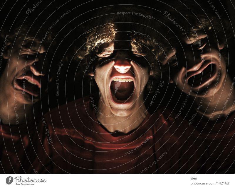 Genug ist genug... Mensch Gesicht Gefühle Mund Angst Nase verrückt Krankheit Wut Stress Verzweiflung Panik Ärger Aggression Charakter Grimasse