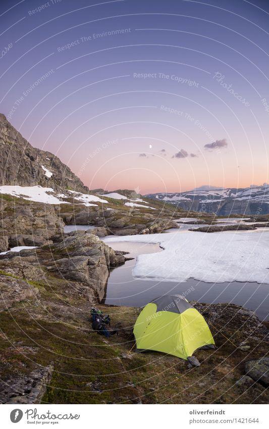 Norwegen XIV Himmel Natur Ferien & Urlaub & Reisen schön Landschaft Wolken Ferne Berge u. Gebirge Umwelt Schnee Freiheit Horizont Eis wandern Ausflug