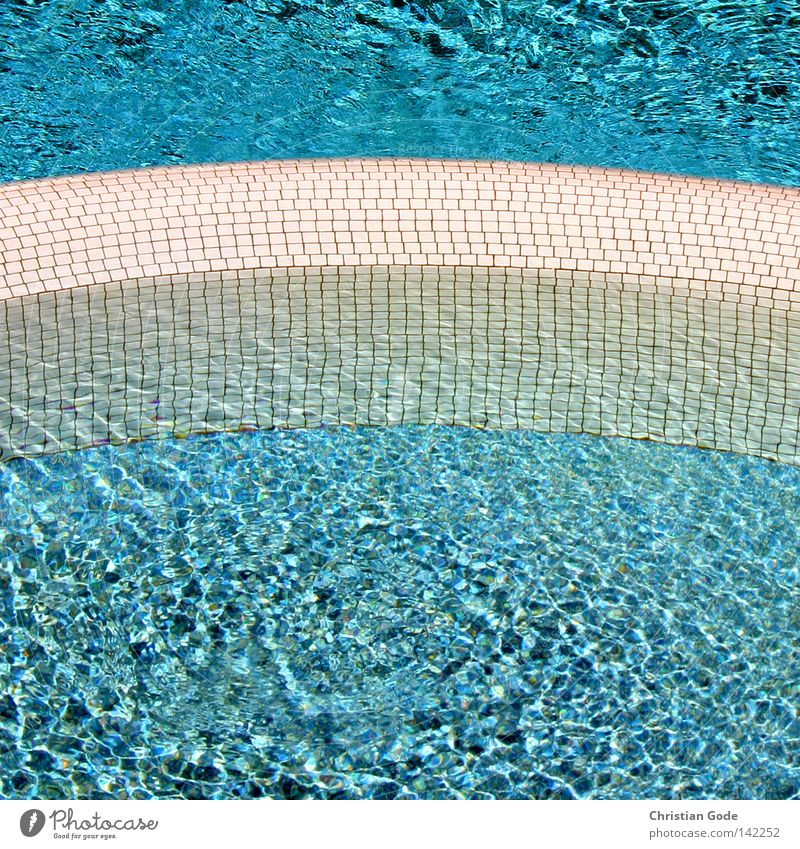 Erfrischung blau Wasser weiß Ferien & Urlaub & Reisen Sommer Erholung kalt Wand Wärme Wellen liegen Kreis Pause Industrie rund Reinigen