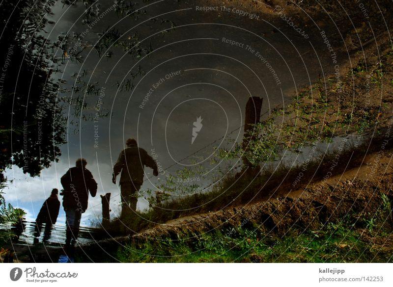 wanderung Mensch Aussicht Ferne Felsen Gras Natur wandern klein groß Wolken Rucksack Pfütze Zaun Wasser gehen Erreichen Luft Schlamm Regen Fußweg Sauerstoff 3