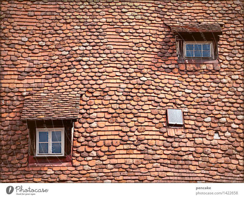 geometrisch | von raum und zeit Stadt alt rot Fenster Leben Architektur Bewegung Gebäude außergewöhnlich Zeit Design Zufriedenheit Raum Häusliches Leben