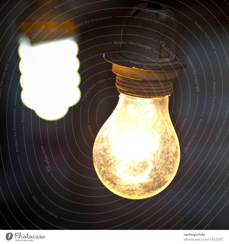 gelb Denken hell Energiewirtschaft leuchten Energie Kreativität Idee heiß kreieren