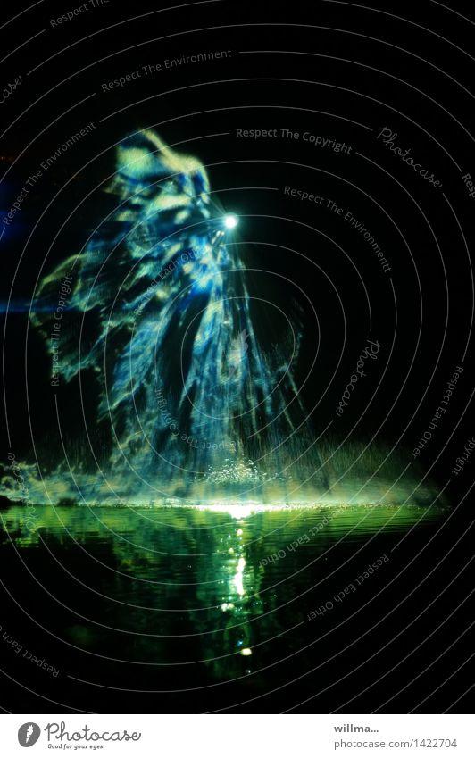 zar wasserwirbel | märchen blau grün Wasser schwarz fantastisch Märchen spritzen Farbenspiel Lichtspiel Phantasie Lichtpunkt Lichteffekt