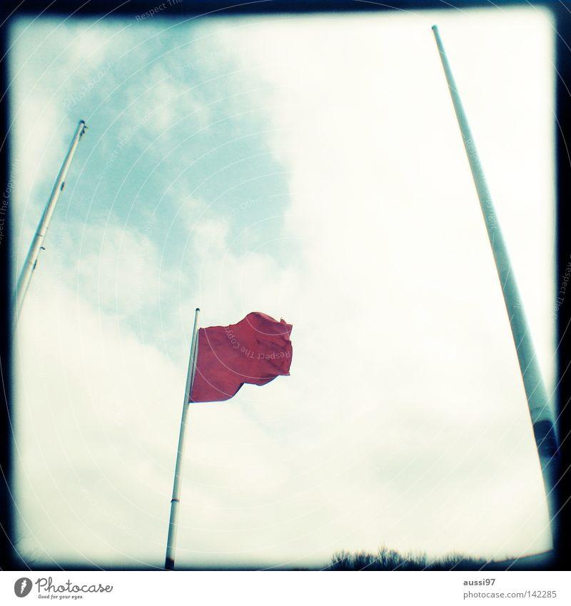 Flag day rot Wind Schilder & Markierungen Dekoration & Verzierung Fahne Konzentration analog Rahmen wehen Sucher Brennpunkt umrandet Lichtschacht Beflaggung