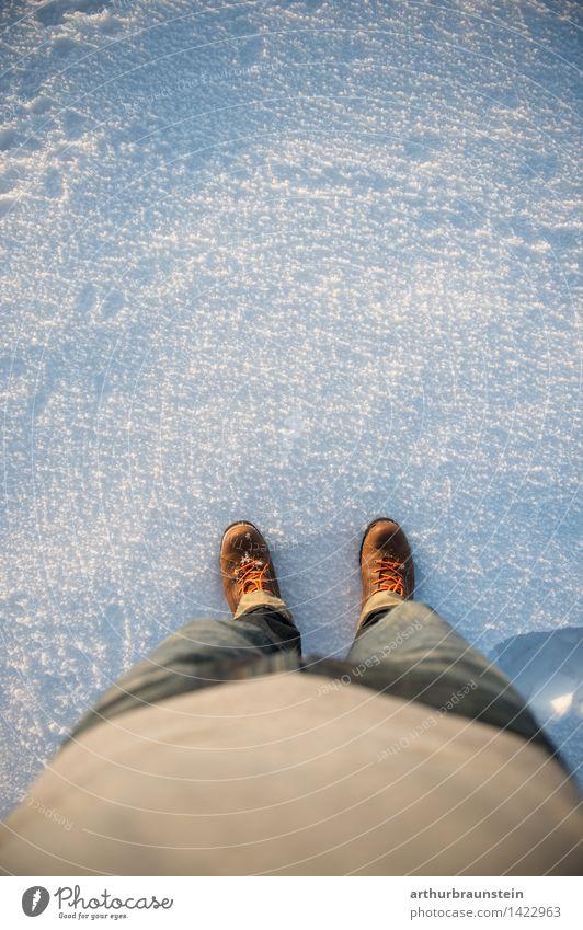 Person im Schnee Mensch Natur Jugendliche Junge Frau Junger Mann Winter Erwachsene Leben Bewegung Schnee feminin braun maskulin Zufriedenheit Eis Freizeit & Hobby