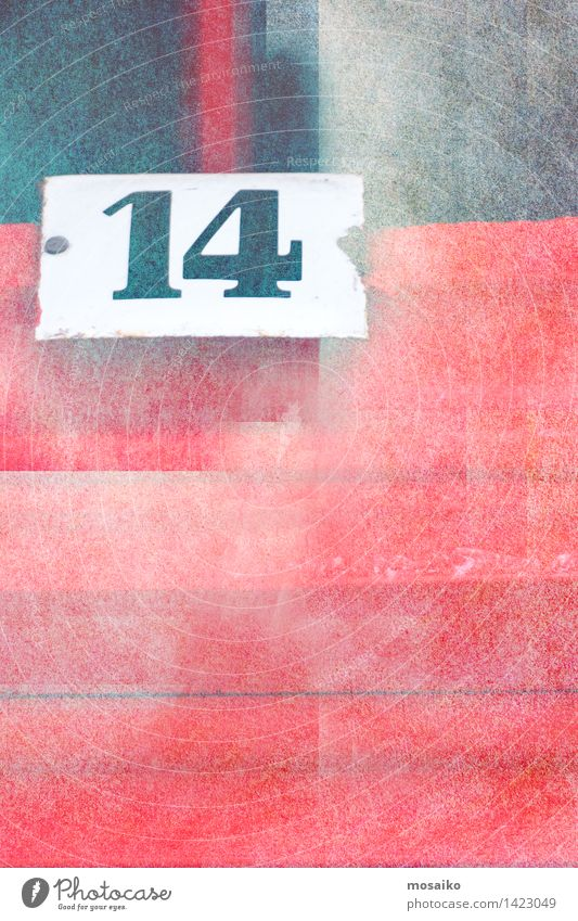 Nummer 14 elegant Design Dekoration & Verzierung Schriftzeichen trendy retro Hintergrundbild Grafik u. Illustration Text Logo Poster Symbole & Metaphern