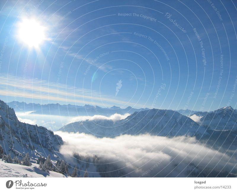 WinterWonderLand 3 Wolken Österreich Panorama (Aussicht) Schnee Sonne Berge u. Gebirge Aplen groß