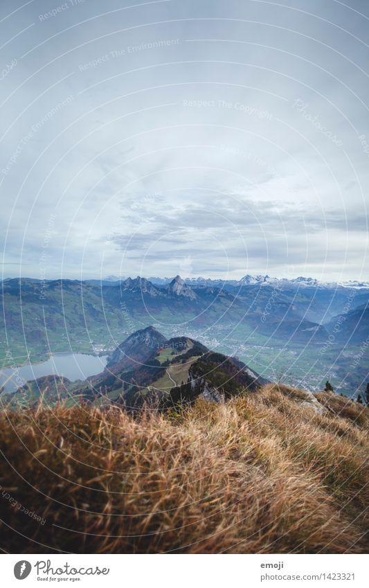 on the top Natur blau Landschaft Berge u. Gebirge Umwelt Herbst natürlich Tourismus Gipfel Alpen Schweiz Wanderausflug