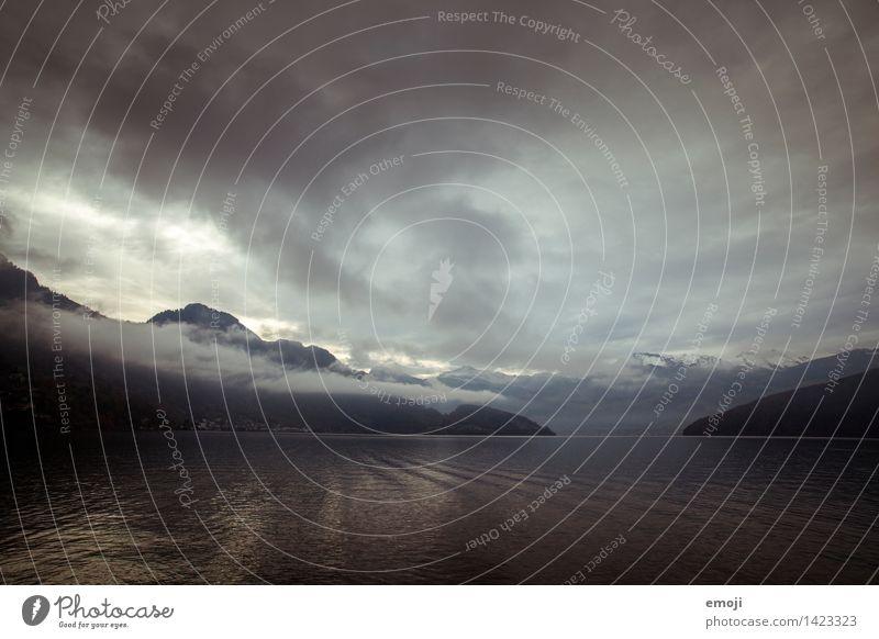 glow Umwelt Natur Landschaft Wasser Himmel Wolken Herbst Klima Wetter schlechtes Wetter Unwetter Wind Sturm Berge u. Gebirge See außergewöhnlich bedrohlich