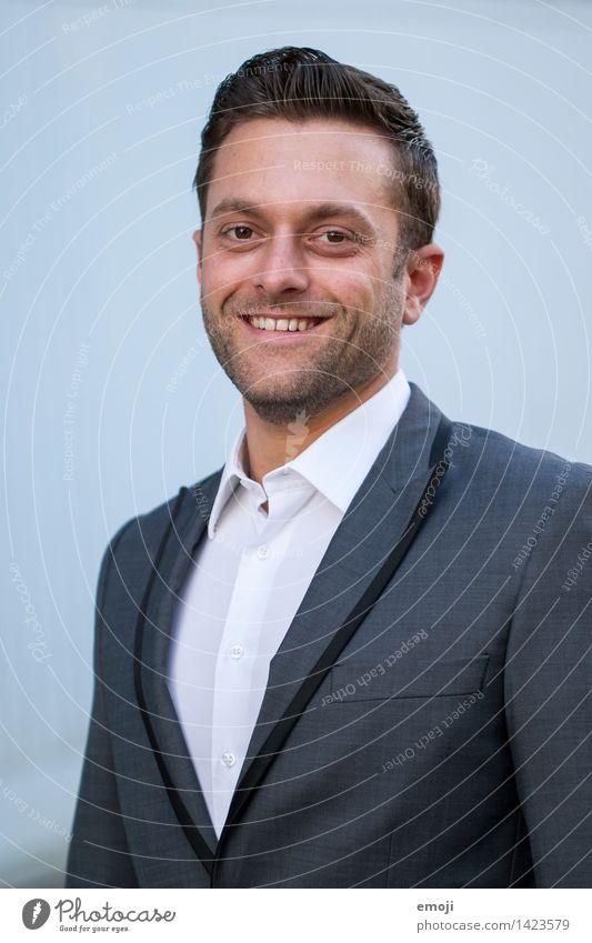 Portrait Mensch Jugendliche Junger Mann 18-30 Jahre Erwachsene Business maskulin Lächeln Freundlichkeit kurzhaarig Passbild