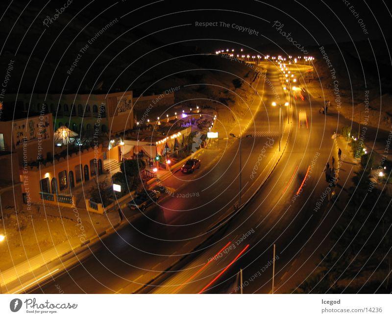 Hurgahda @ night Hurghada Ägypten Nacht Langzeitbelichtung Hotel München Straße Rotes Meer
